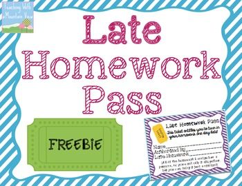 I was at a conference this summer that suggested I DO AWAY with homework passes…instead, replace them with a LATE Homework Pass. Consider this: What is the message you are sending to students when you tell them that it is occasionally okay if you don't do the assigned homework? That it's not meaningful! Makes sense to me, and I can also see where a late homework pass might be appreciated by students when they have a soccer game or a dance recital late into the evening hours… That is how…