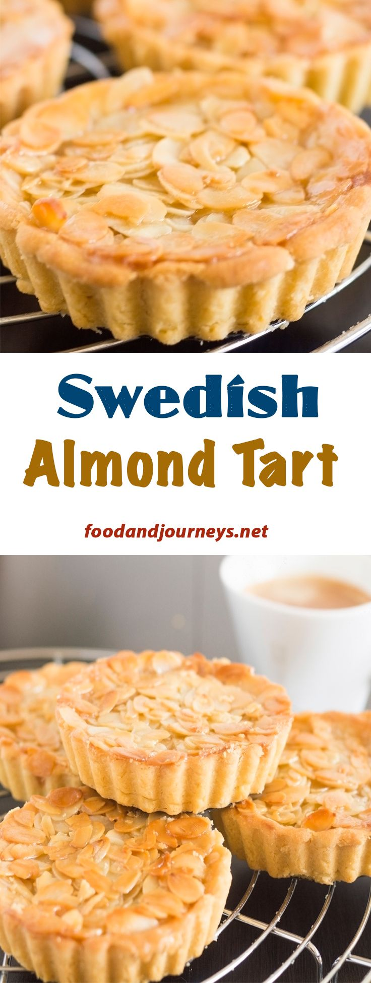 Great with coffee or tea for snack (or breakfast)! This tart is undeniably made of almonds; you get the creaminess, sweetness and crunch of almonds in every bite!