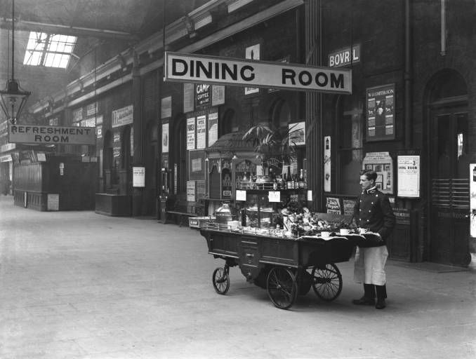 Mobile refreshment stand at Derby station, 23rd February 1908