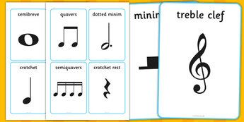 Musical Notation Cards - musical note, musical note cards, musical notation…
