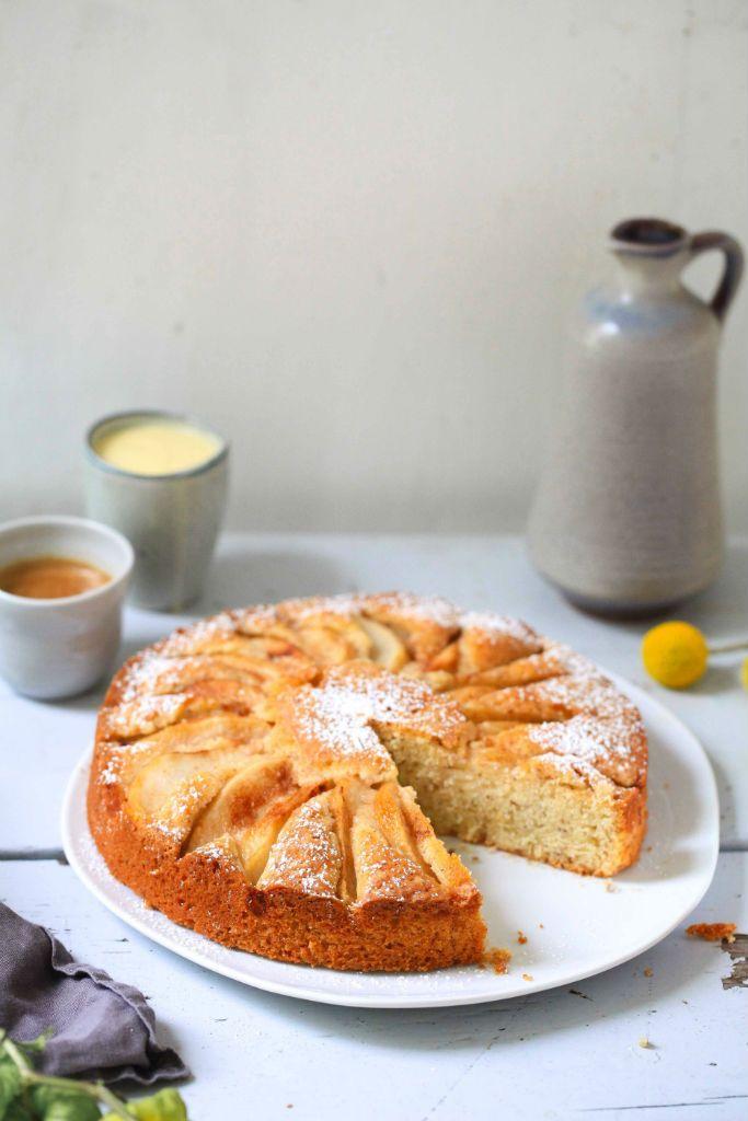 Birnenkuchen Nusskuchen Zimtbirne Kuchen backen Kuchenrezept einfacher Kuchen…