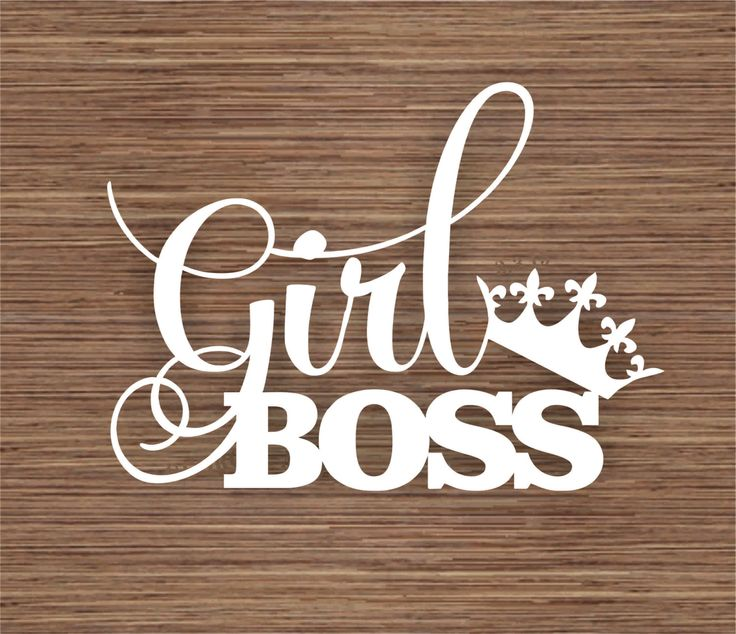Girl Boss PDF SVG (Commercial Use) Instant Download Papercut Template