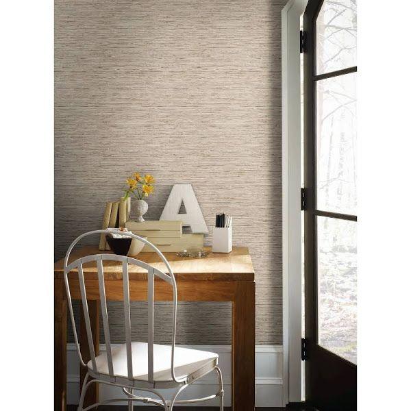 Roommates Grasscloth Peel And Stick Wallpaper Taupe Gold Google Express Grasscloth Peel And Stick Wallpaper Home Decor
