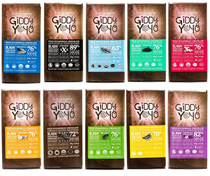 Raw Vegan Giddy Yoyo Chocolate Bars
