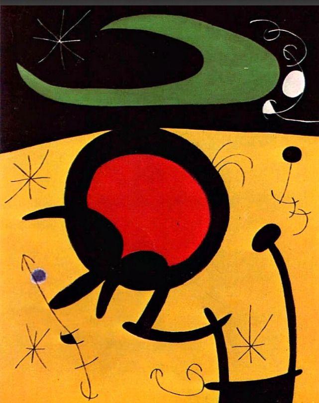 Joan Miro. Vuelo de Pájaros (1968).