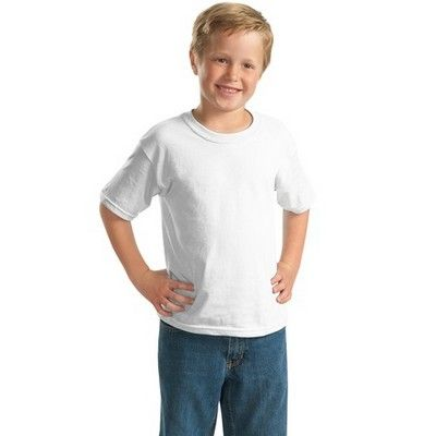 Youth Cotton T-shirt White Min 25 - A ultra tight knit surface kids shirt with double needle sleeves and bottom hem. http://www.promosxchange.com.au/youth-cotton-tshirt-white/p-8297.html