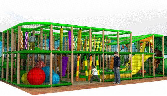 Rainforest Playground per interno...10 metri di divertimento puro...per info: www.pardaisogonfiabile.it