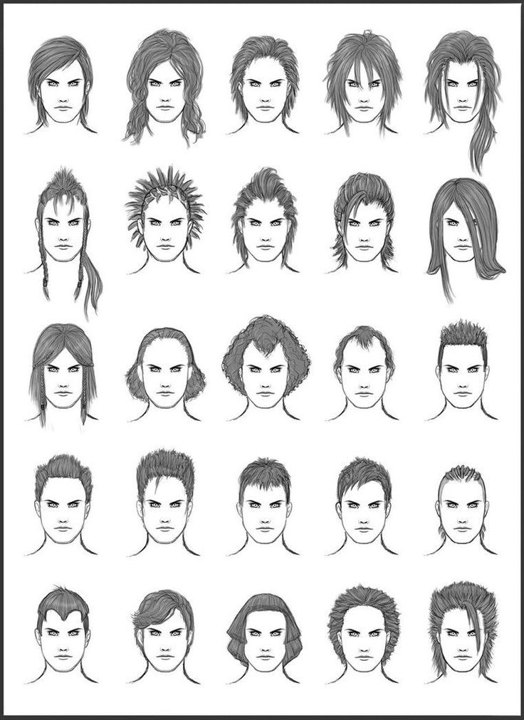 Men Hair Sketch At PaintingValleycom  Explore Collection Of Men