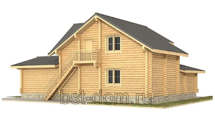 Проект бани №2 - Строительство деревянных и каменных домов 8-9852240745.
