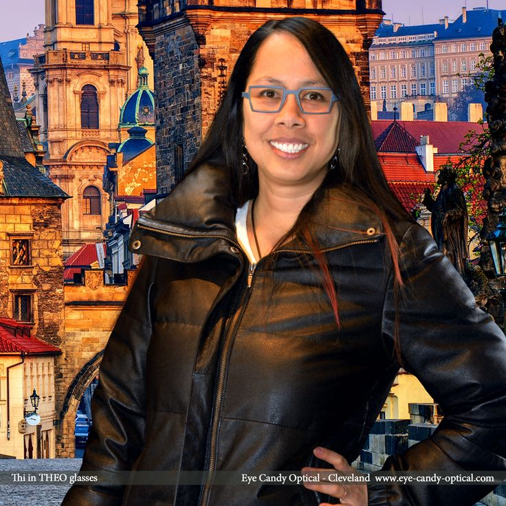 Thi is an explorer of history and beautiful architecture of Prague in her new designer glasses by Theo.  Eye Candy loves beauty, style, and history of the finest European Eyewear Fashion! Eye Candy Optical Cleveland – The Best Glasses Store! (440) 250-9191 - Book an Eye Exam Online or Over the Phone  www.eye-candy-optical.com