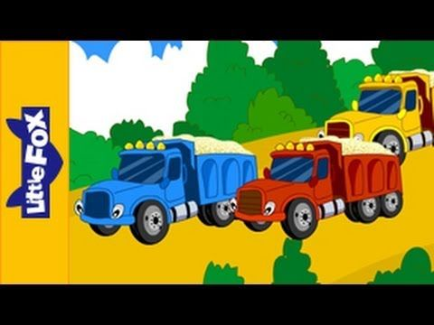 ▶ Five Big Dump Trucks - Song for Kids by Little Fox - YouTube