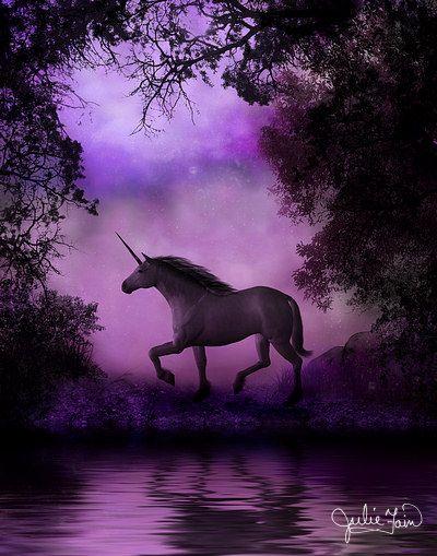 Giving Thanks to everyone today. Happy Thanksgiving day~~~~~~~~~~~~♥~~~~~   Julie Fain Art | Unicorn Art - Fantasy Art *