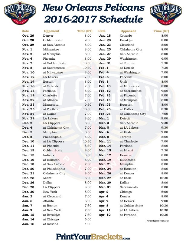 Printable basketball schedule practice plan template free download printable new orleans pelicans basketball schedule 2016 2017 saigontimesfo