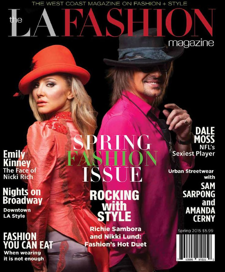 The LA fashion magazine 2015 spring issue  The LA fashion magazine 2015 digital spring issue Loaded with LA's celebs like Richie Sambora, Nikki Lund, Emily Kinney, Sam Sarpong, Amanda Cerney, Dale Moss and many others. This Spring issue is the best LA Fashion magazine issue yet.