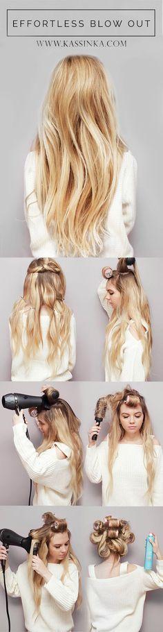 Effortless Blow Out Hair Tutorial (Kassinka)