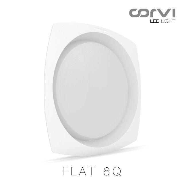 Corvi LED Flat 6Q: 1350 Lumens/ 9 #Watts #CorviLEDLight #Becauselightisforeveryone