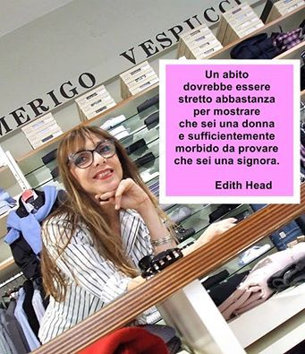 >> Una citazione per voi << Dalle parole di Edith Head...  #aforisma #modena #amerigovespucci Seguici sulla nostra pagina Facebook: www.facebook.com/AmerigoVespucciAbbigliamento
