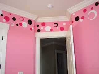 Girls Bedroom Paint Ideas Polka Dots 13 best wall painting/decor images on pinterest | wall stenciling