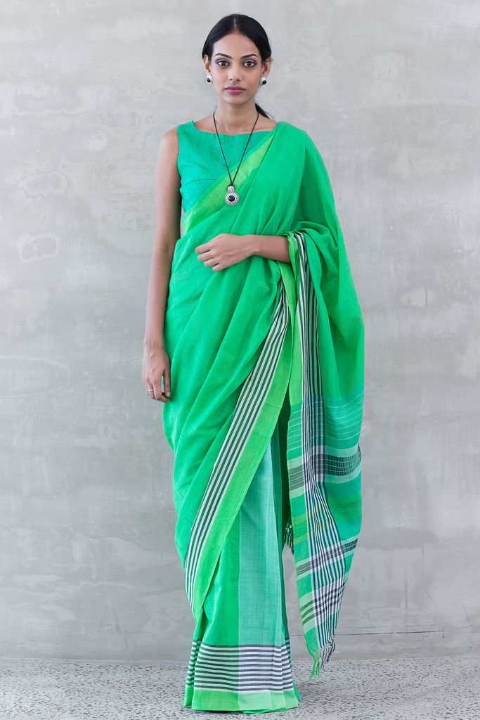 Grass and Shadow Saree from FashionMarket.lk