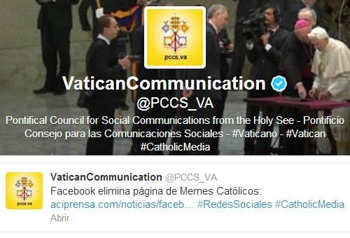Vaticano recoge denuncia sobre eliminación de Memes Católicos en Facebook