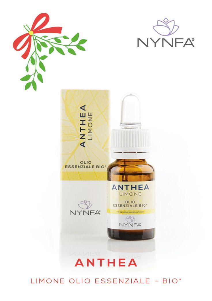 A Natale, prenditi cura di chi ami... regala ANTHEA Limone Olio Essenziale Bio*. *ingredienti da origine biologica certificata