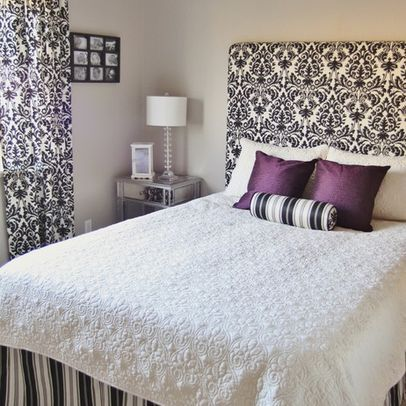 How to make a simple Fabric Headboard, wall mounted #headboard #diy