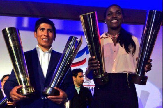 Nairo Quintana y Caterine Ibargüen, deportistas del año de El Espectador