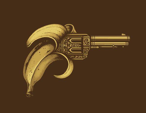 Banana Gun Art Print by Enkel Dika | Society6
