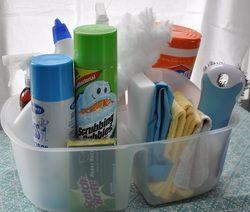 """20-Minute Cleanup Caddy from """"Getting Organized: Always Ready For Guests"""""""
