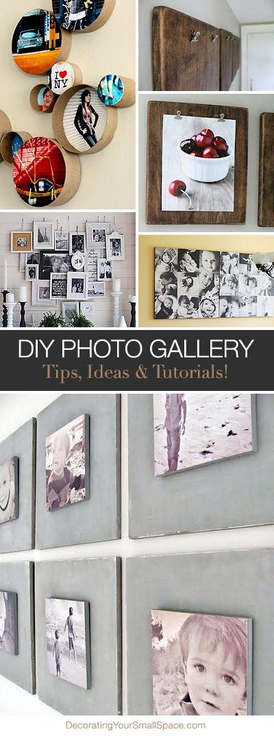 Create a DIY Photo Gallery with Style • Lots of Ideas & Tutorials!