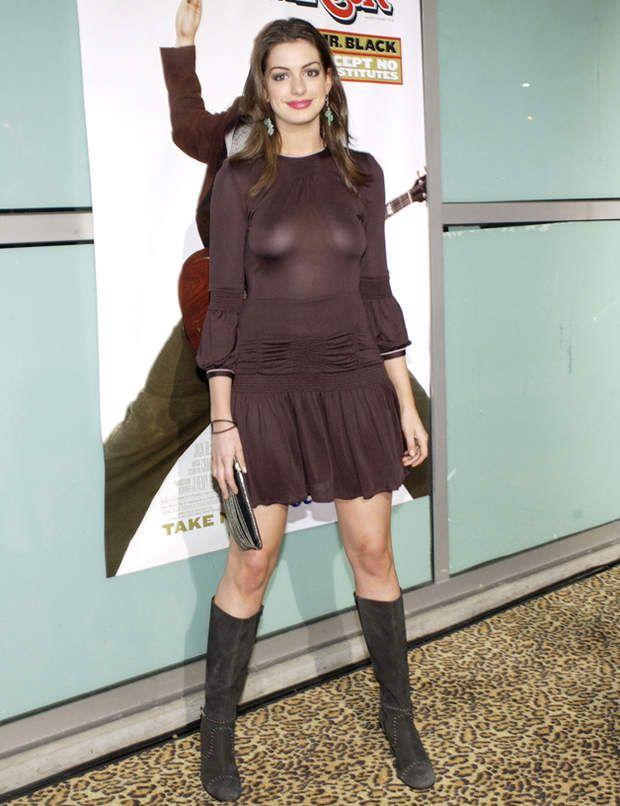 Anne Hathaway n'a pas toujours su maîtriser les flashs