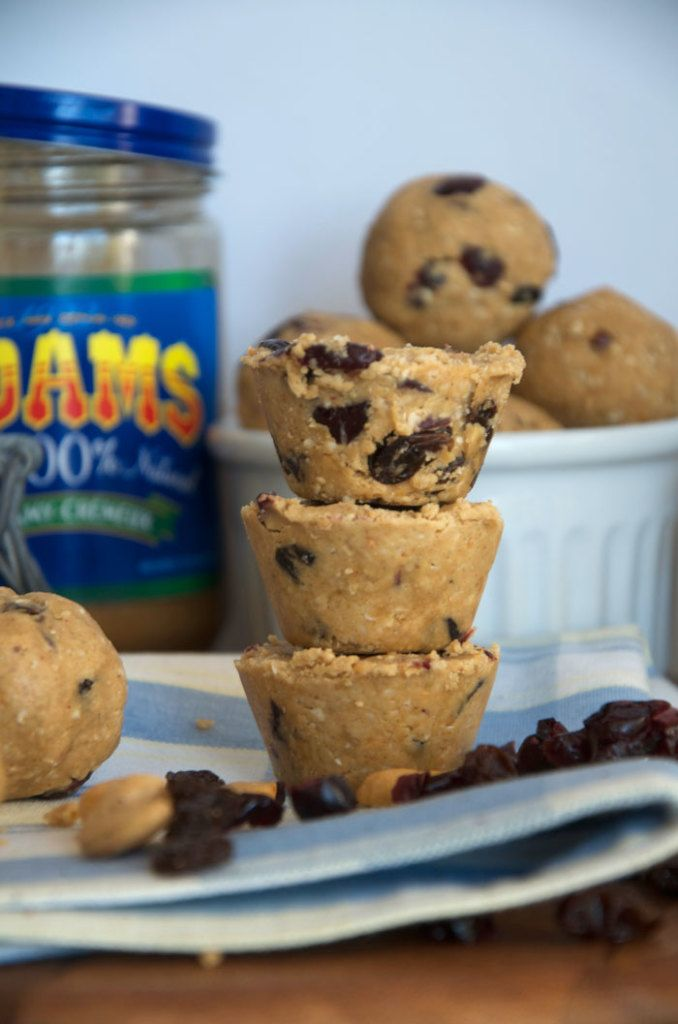 Healthy, natural snacking made easy with Adams Peanut Butter: No-Bake Fruit and Nut Balls and a PB & J Coconut Smoothie