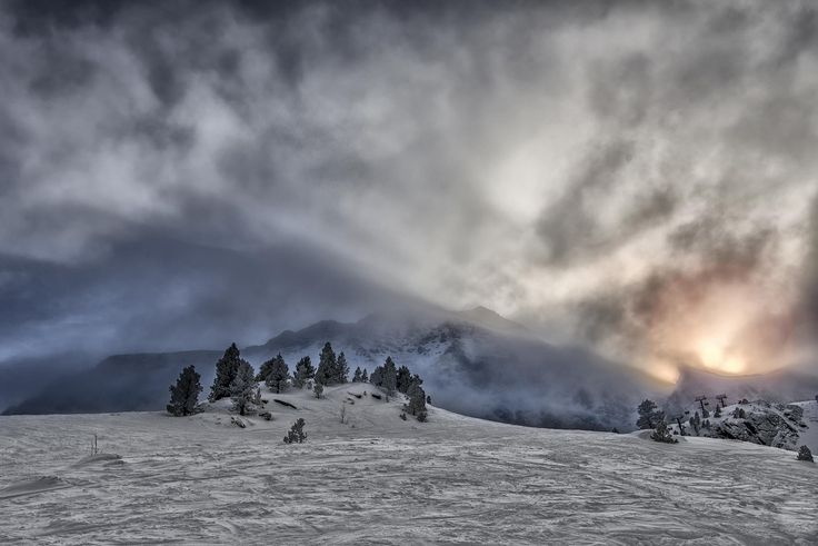 Burning Sky over Andorra by Nerijus Lostinhdr on 500px