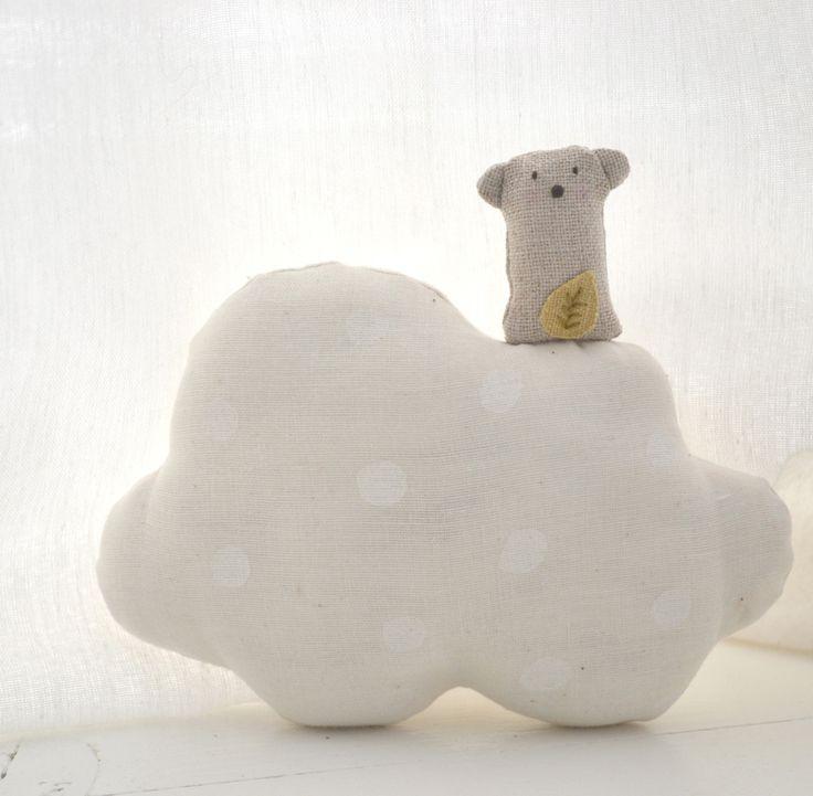 Image of Ernest nube color crudo círculos blancos