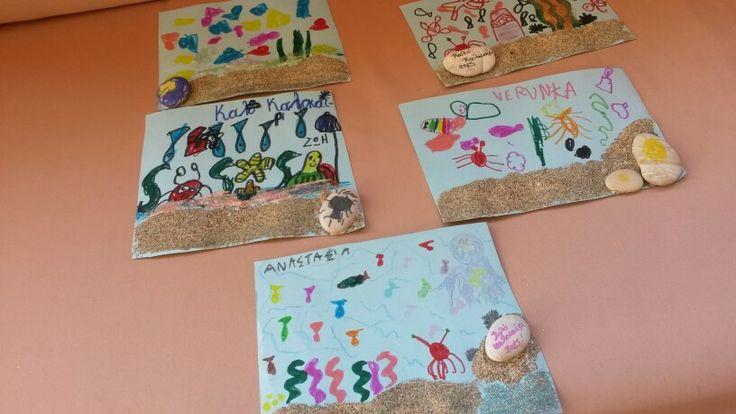 Sea  Sand summer cards