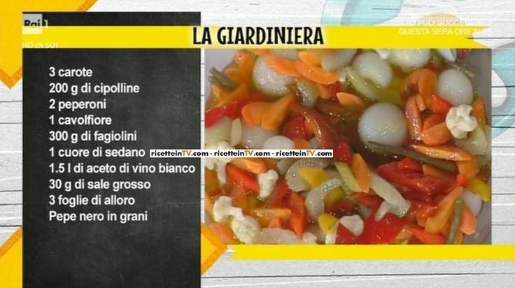 """La ricetta della giardiniera di Anna Moroni del 11 maggio 2017, a """"La prova del cuoco""""."""