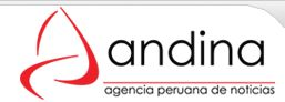 .: ANDINA - Peru News Agency :. in Spanish or English