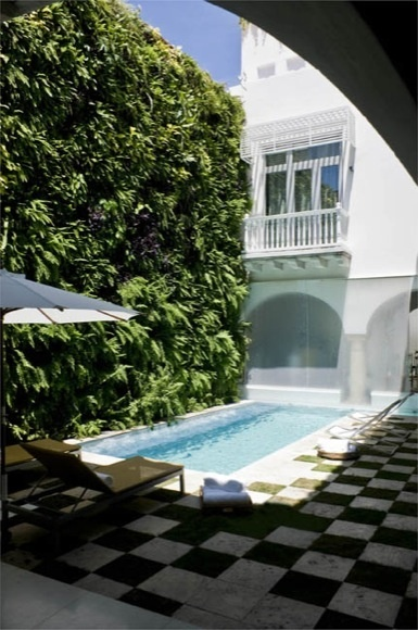 #SilviaTcherassi Hotel garden and pool