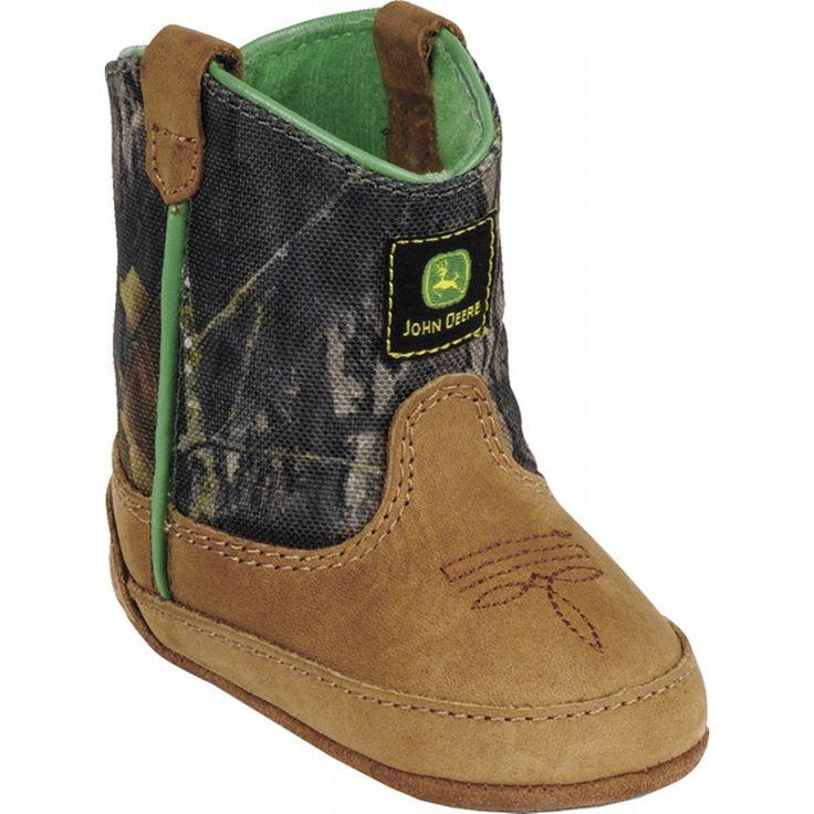 camo baby boy clothes | Babys John Deere Johnny Popper Leather Wellington Boots