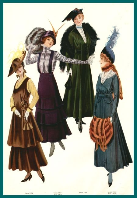 Fashion plate, circa 1915
