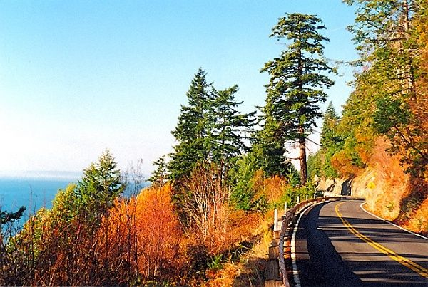 I miss Washington SOO much!  -Chuckanut Drive.  Leads to Bellingham (or Skagit Valley, depending on which way you are driving!)