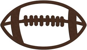 Silhouette Online Store: football outline