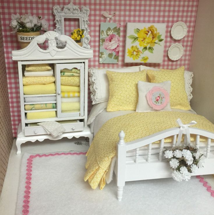 A personal favorite from my Etsy shop https://www.etsy.com/listing/222029078/shabby-white-and-yellow-bed-and-bedding