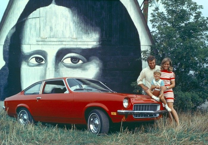 1971 Chevrolet Vega hatchback.