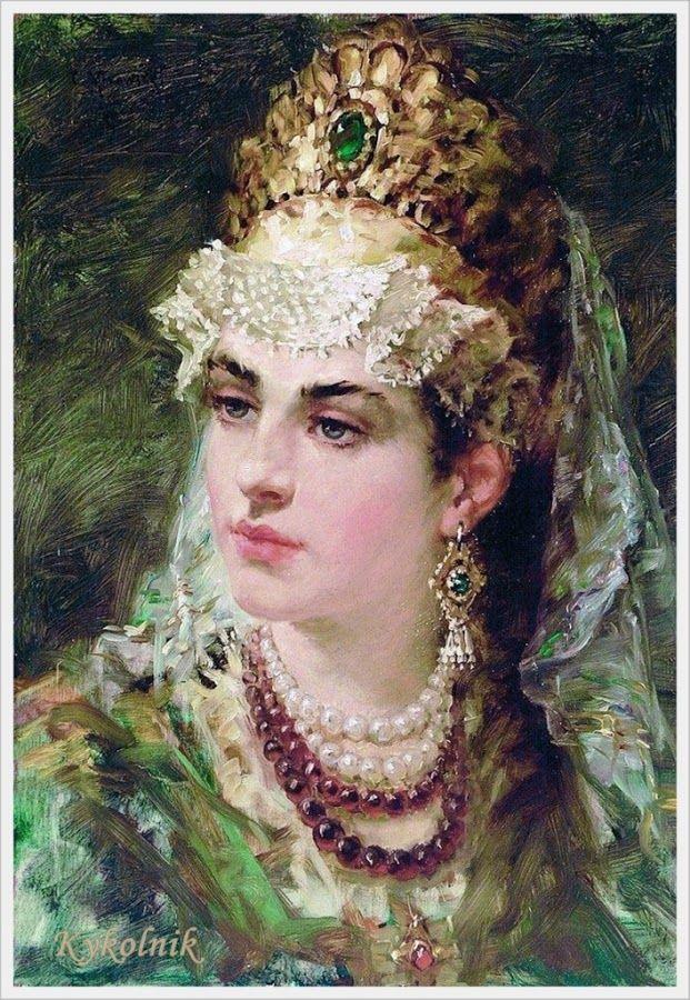 Константин Егорович Маковский (1839-1915) «Боярышня»