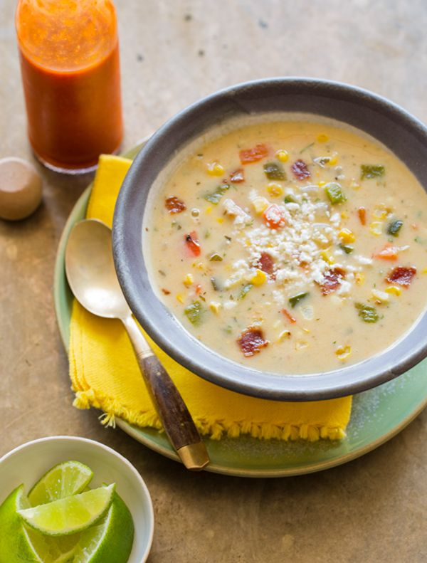 Roasted Corn Chowder Recipe, soup recipe, dinner recipe