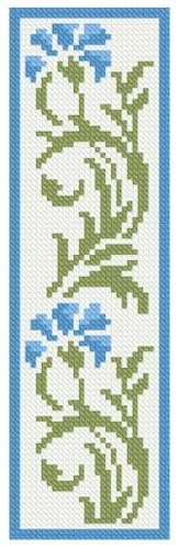 Floral Bookmark 3 cross stitch pattern.
