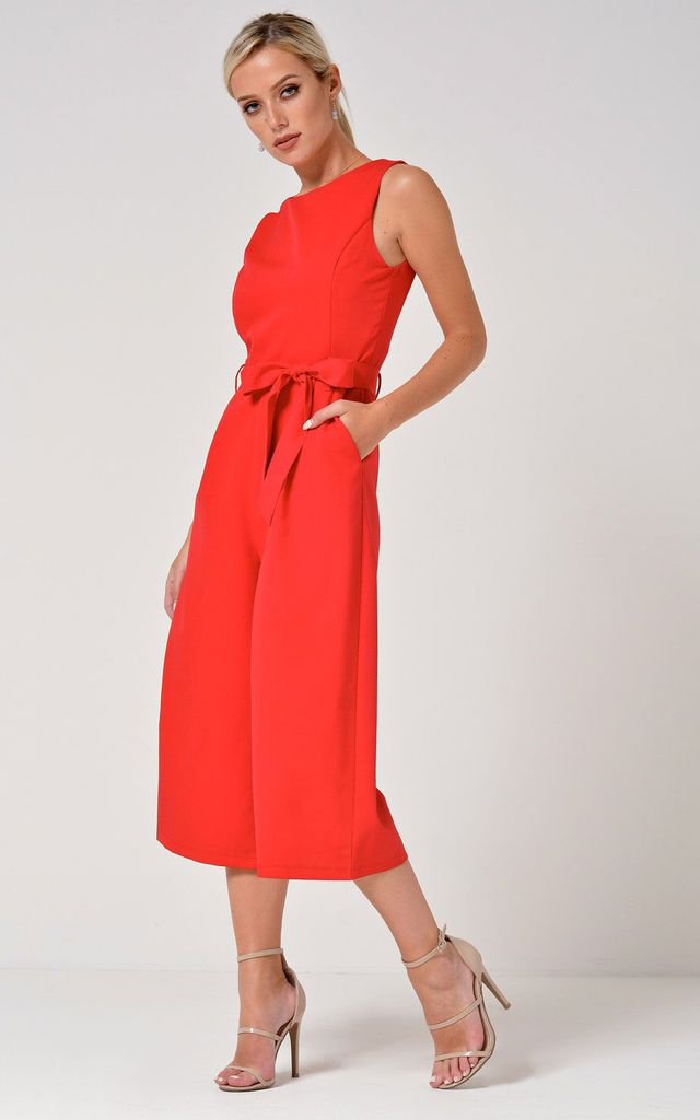 9951643a72c Layla Longline Culotte Jumpsuit in Red by Marc Angelo