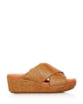 5e9e15b49195 Gentle Souls by Kenneth Cole - Women s Mikenzie Woven Platform Slide Sandals