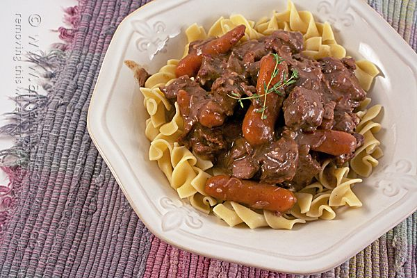 Beef Burgundy in the Crock Pot - a delicious slow cooker recipe my family loves!